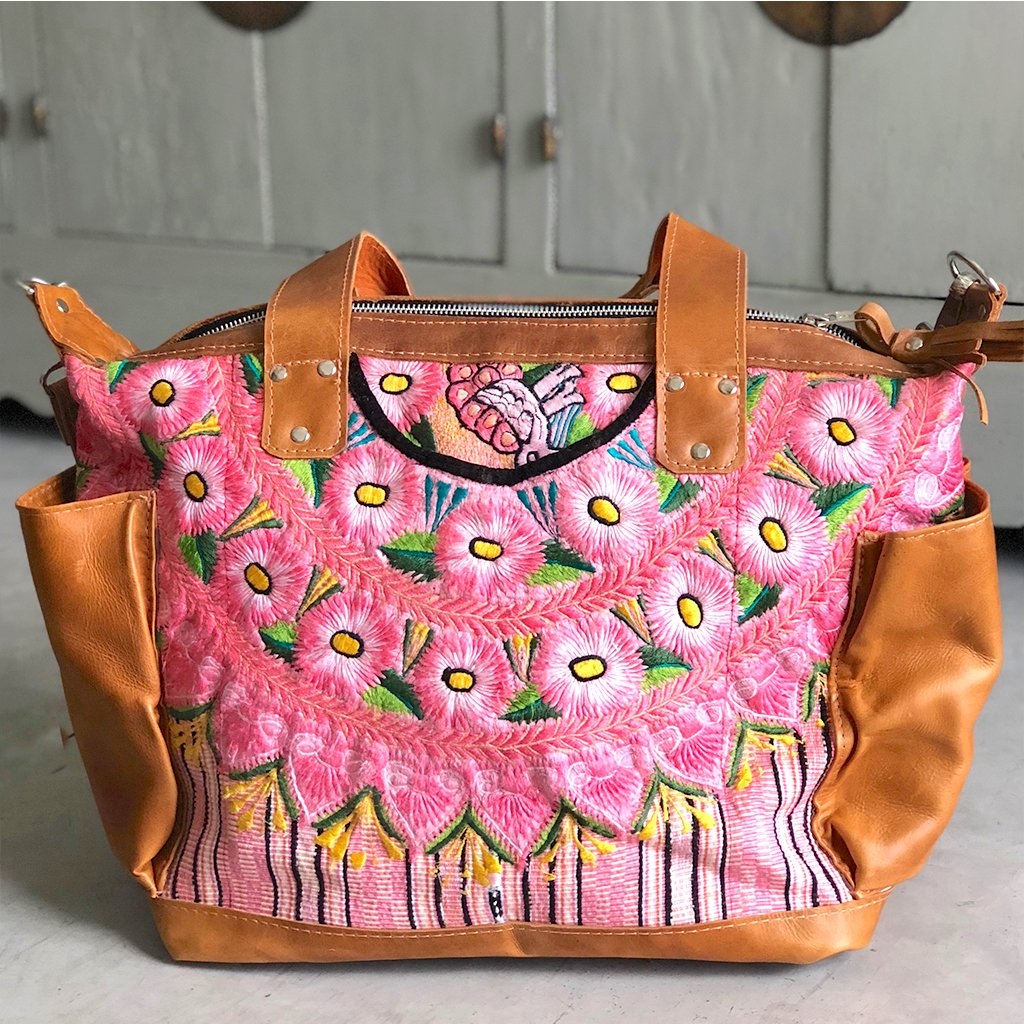 PInk Huipil Bag The Fox and the Mermaid
