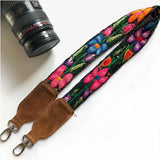 pink and blue floral bag strap  The Fox and the Mermaid