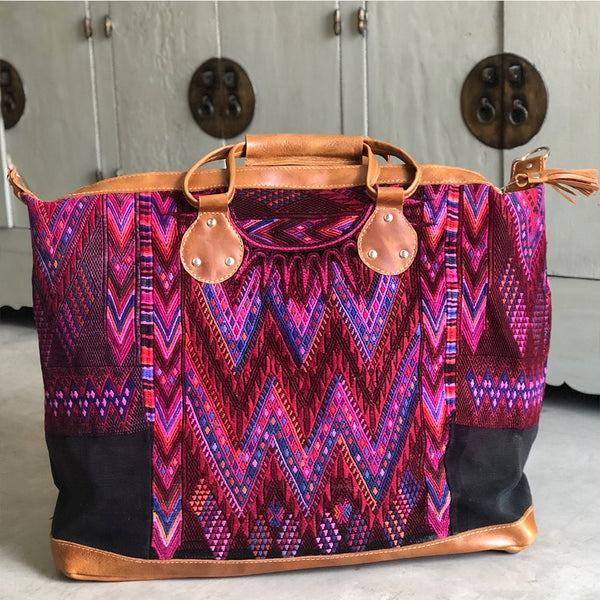 Purple Guatemalan Weekender Huipil Bag The Fox and the Mermaid