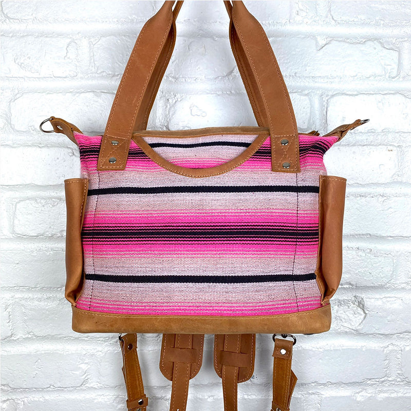 pink serape backpack and shoulder bag - The Fox and the Mermaid