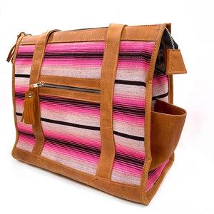 pink striped dog carrier - The Fox and the Mermaid