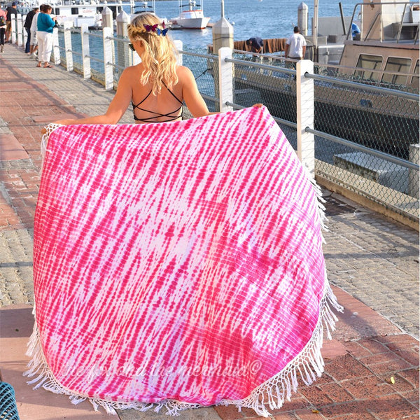 Pink Tie-dye Beach Roundie The Fox and the Mermaid