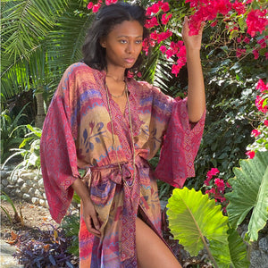 vintage indian silk robe - The Fox and the Mermaid
