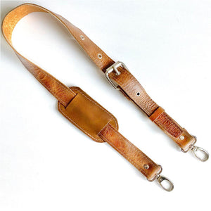 Tan Leather Adjustable Strap - The Fox and the Mermaid