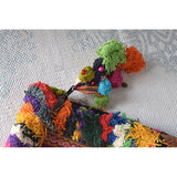 Large Hmong Embroidered Clutch with Pom-Poms (various colors) - The Fox and The Mermaid - 6