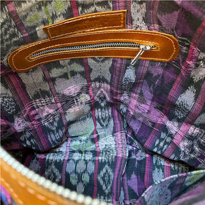 purple and black ikat bag lining The Fox and the Mermaid