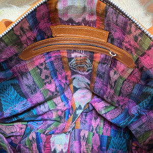 ikat bag lining handwoven - The Fox and the Mermaid