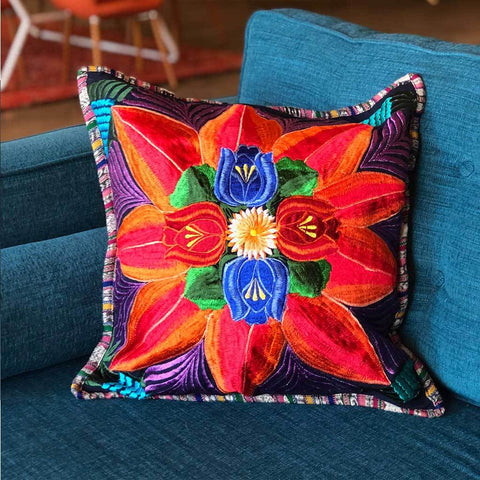 Embroidered Mayan Cushion