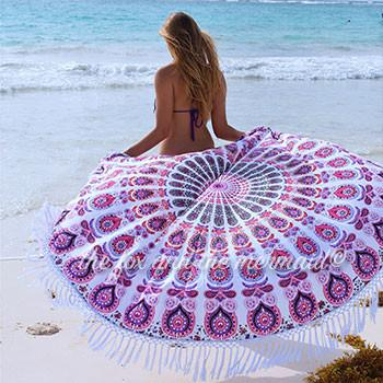 The Valentina Mandala Roundie with White or Black Fringe