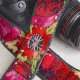 Detail of Guatemalan Camera Strap The Fox and the Mermaid