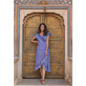 Purple Voile Wrap Dress The Fox and the Mermaid