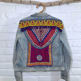 Embellished Denim Banjara Jacket (L) - The Fox and The Mermaid