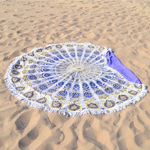 The Dandelion Round Beach Towel: SAMPLE
