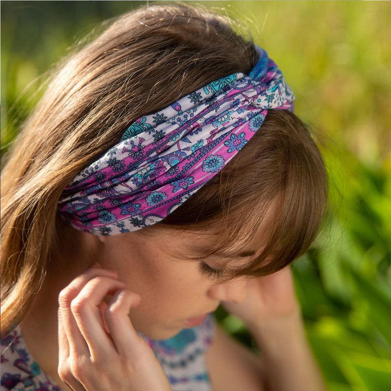 pink rayon headband - The Fox and the Mermaid