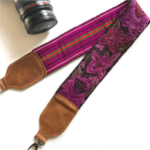 purple floral embroidered strap The Fox and the Mermaid