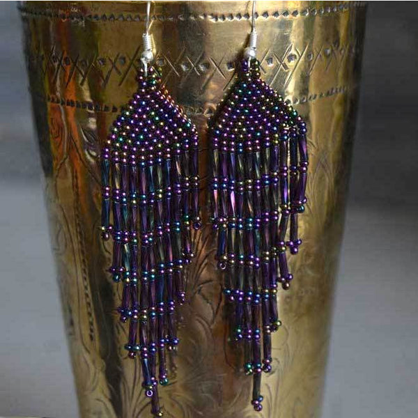Huichol Beaded Earrings - The Fox and The Mermaid
