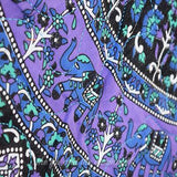 Purple Rhapsody Mandala Roundie Quilt with Pom-Poms - The Fox and The Mermaid - 3