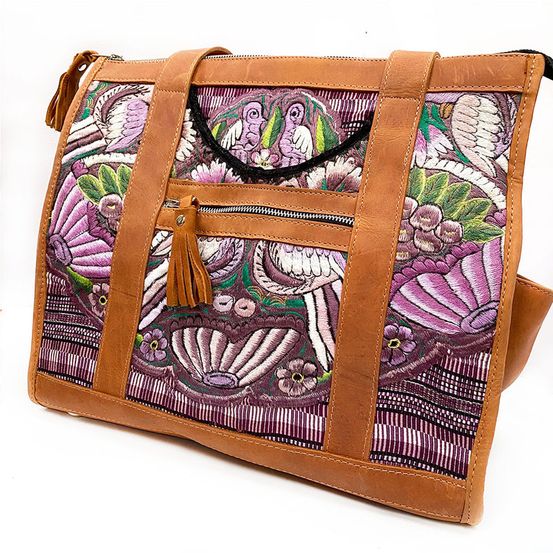 back view of huipil bag - The Fox and the Mermaid