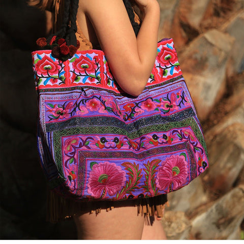 Hmong Tribe Embroidered Bag (Various Colors)