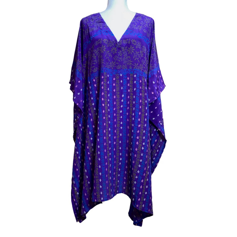 vibrant purple indian silk dress - The Fox and the Mermaid