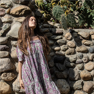 indian cotton block printed Dress - The Fox and the Mermaid