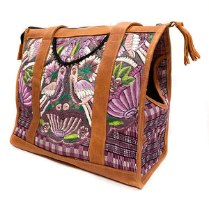 Guatemalan Hand Woven Vintage Dog Bag - The Fox and the Mermaid