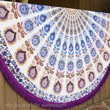 The Lilac Mandala Roundie with Fringe - The Fox and The Mermaid - 7