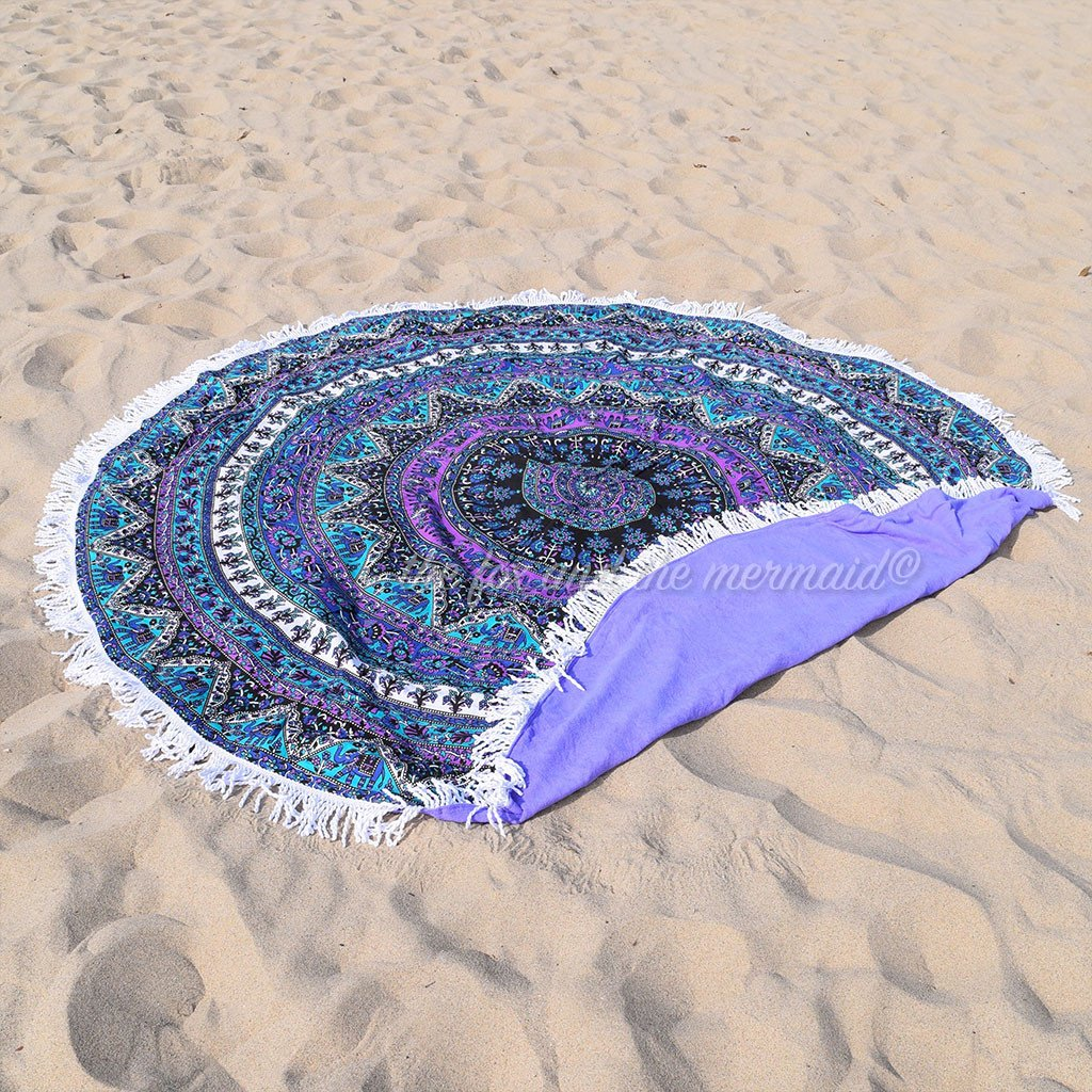 Purple Rhapsody Round Towel