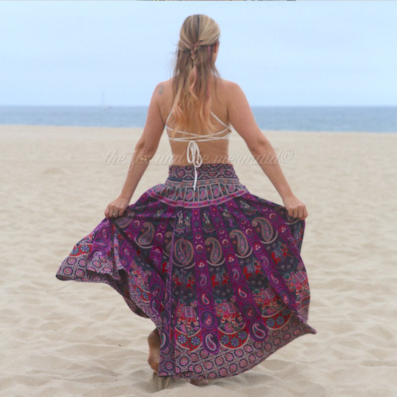long hippie skirt ethereal the-fox-and-the-mermaid
