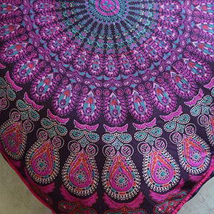 Mandala Tapestry Floor Cushion and Dog Bed: Pink and Purple - The Fox and The Mermaid - 3