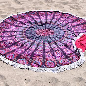 Hello Love Round Towel - The Fox and The Mermaid