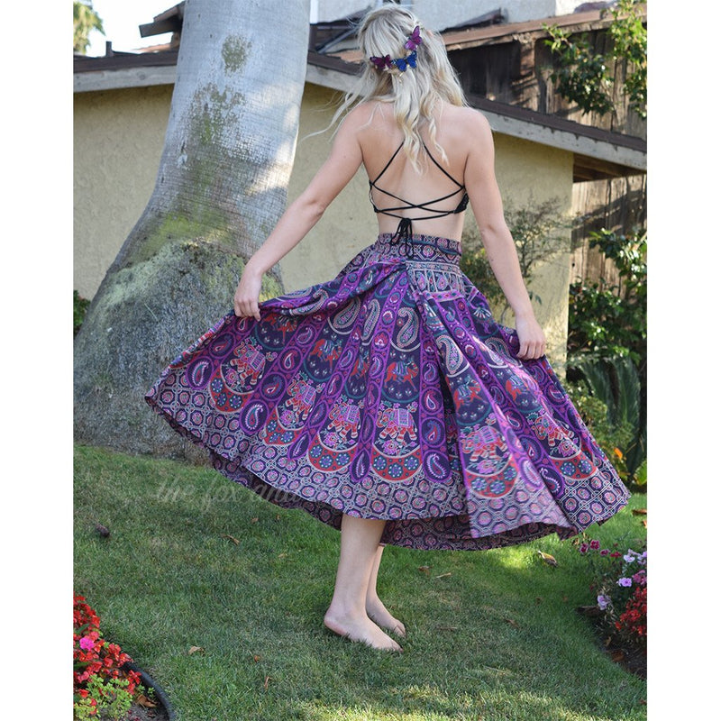 Mandala Tapestry Wrap Skirt The Fox and the Mermaid
