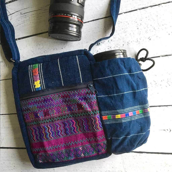 Guatemalan Embroidered Camera Bag and Lens Case The Fox and the Mermaid