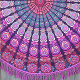 Hello Love Mandala Roundie with Pink Fringe - The Fox and The Mermaid - 3