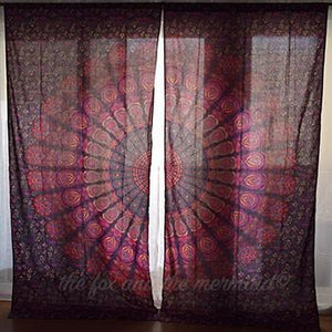 Hello Love Mandala Tapestry Curtains - The Fox and The Mermaid