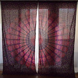 Hello Love Mandala Tapestry Curtains - The Fox and The Mermaid - 2