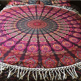 Hello Love Mandala Roundie with White Fringe - The Fox and The Mermaid - 7