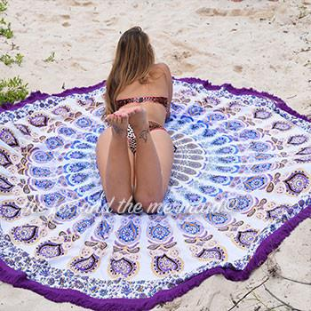 The Lilac Mandala Roundie with Fringe