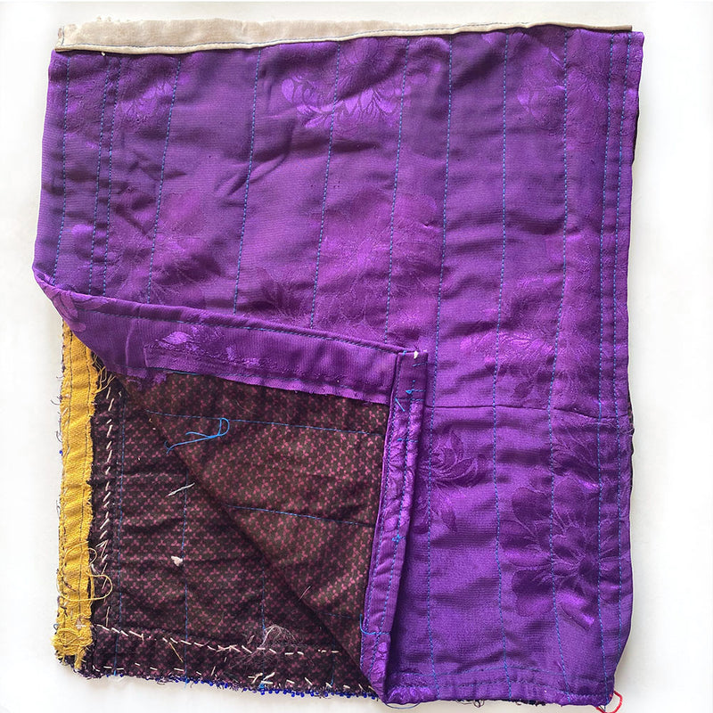 purple satin backing on indian tribal patch The Fox and the Mermaid