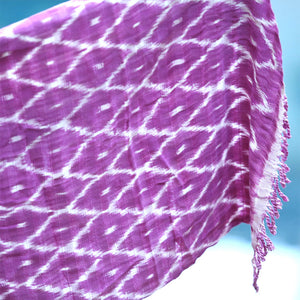 Handwoven Guatemalan Shawl and Scarf: Berry