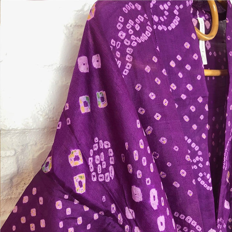detail of purple silk robe - The Fox and the Mermaid