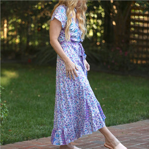 soft and flowy Wrap dress - The Fox and the Mermaid