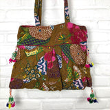 back view kantha embroidered bag The Fox and the Mermaid