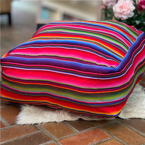 Serape dog Pillow Pouf - The Fox and the Mermaid
