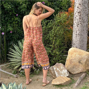 Back of rayon voile jumpsuit The Fox and the Mermaid