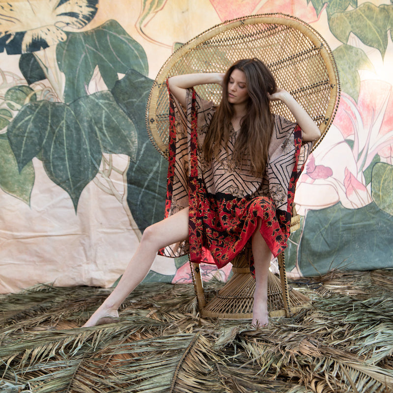 boho chic silk kaftan  - The Fox and the Mermaid