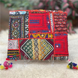 Indian tribal embroidered clutch - The Fox and the Mermaid