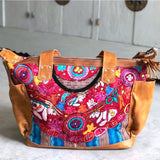 guatemalan red and blue patzun bag The Fox and the Mermaid