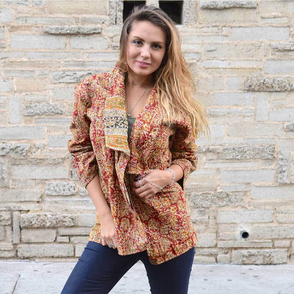 Gold Kantha Jacket The Fox and the Mermaid