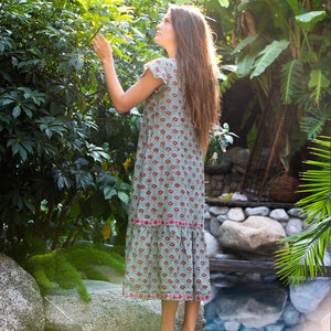 sustainably made indian maxi dress - The Fox and the Mermaid